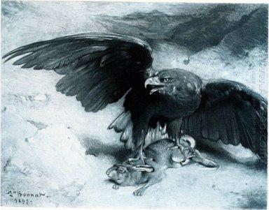Elang Dan Kelinci Lukisan Minyak