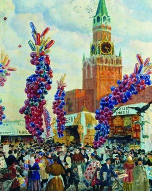 Palm Market With Spassky Gate 1917