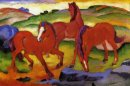 Grazing Horses Iv The Red Horses 1911