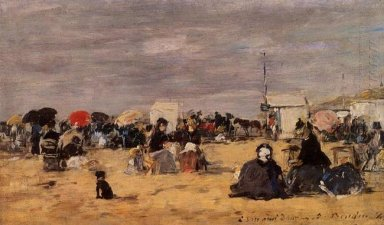 Trouville Beach Scene 1