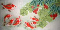 Fish&Bayberry - Chinese Painting
