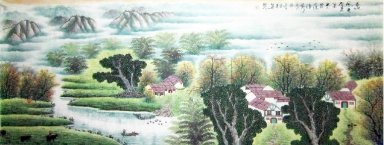 Water village - Chinese Painting