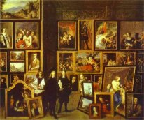 Archduke Leopold Wilhelm in his Picture Gallery, with the artist