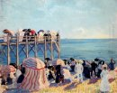 The Beach And Pier At Trouville 1905