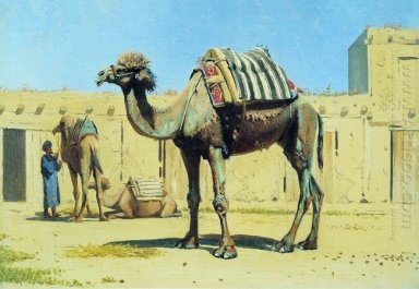 Camel In The Courtyard Caravanserai 1870
