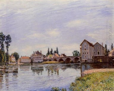 the loing flowing under the moret bridge 1892