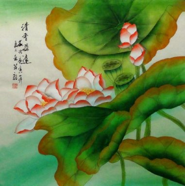 Lotus - Chinese Painting(Semi-manual)