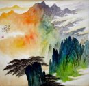 Pines on the hill - Chinese Painting