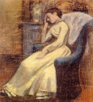Julie Lemmen Sleeping in an Armchair