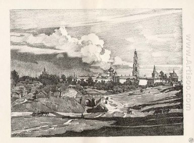 Sergiyev Posad The Monastery S View From The North 1923