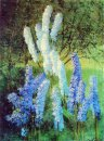 Delphiniums In The Garden