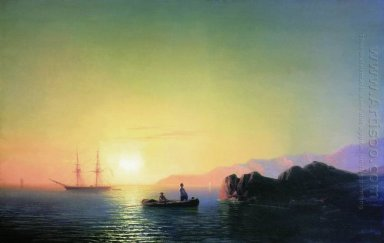 Sunset At The Crimean Coast 1856