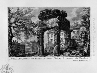 The Roman Antiquities T 1 Plate Xxxii Ruins Of The Pronaos Of Th