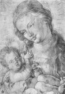 madonna and child in half length