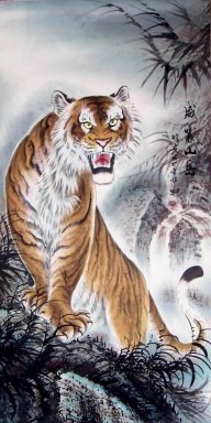 Tiger&Mounted - Chinese Painting