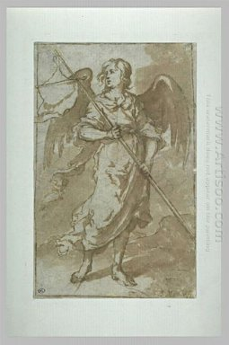 Angel Holding A Banner 1660