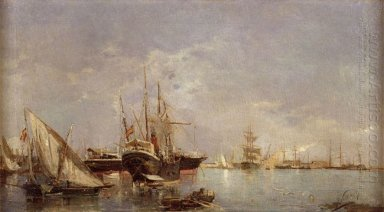 The Port Of Valencia 1882