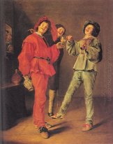 Three Boys Merry-making
