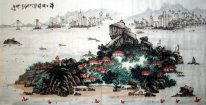 The seaview of Xiamen,China - Chinese Painting