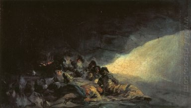 Vagabonds Resting In A Cave 1800