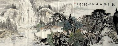 Mountains, trees - Chinese Painting