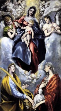 The Virgin And Child With St Martina And St Agnes 1599