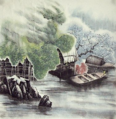 Boat, river - Chinese Painting