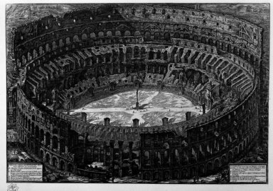 View Of The Flavian Amphitheatre Called The Coliseum A Bird