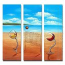 Hand-painted Landscape Oil Painting - Set of 3