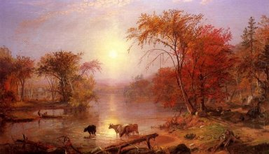 Summer Indian Hudson River 1861