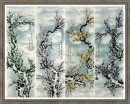 Four-color-Plum-FourInOnee - Chinese Painting