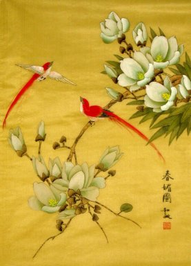 Magnolia&Birds - Chinese Painting
