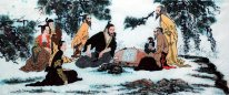 Gaoshi, Playing chess- Chinese Painting
