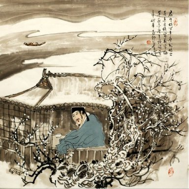Fishing man-Chinese Painting