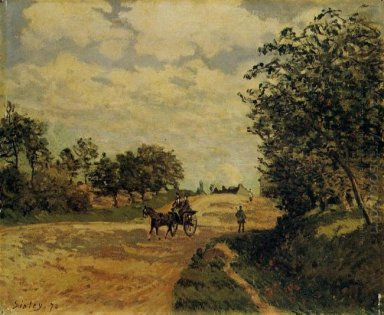 the road from mantes to choisy le roi 1874