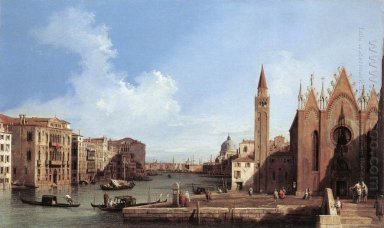 grand canal from santa maria della carita to the bacino di san m