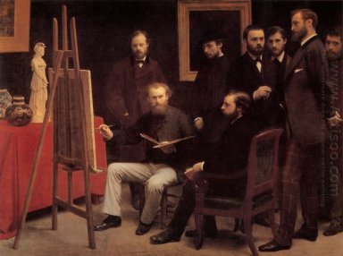 A Studio In The Batignolles Homage To Manet 1870