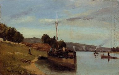 barges at le roche guyon 1865
