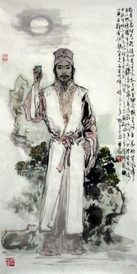 Ancient poet, Shu Dongpo - Chinese painting