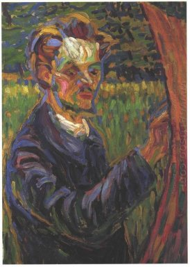 Portrait Of Erich Heckel At The Easel