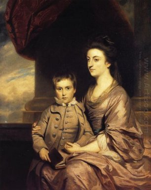Elizabeth Countess Of Pembroke And Her Son 1767