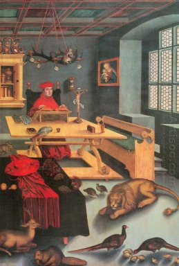 Albrecht Of Brandenburg As St Jerome In His Study 1526