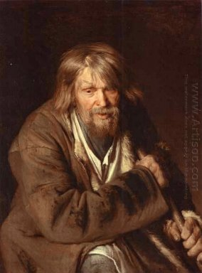 Portrait Of An Old Peasant Study 1872