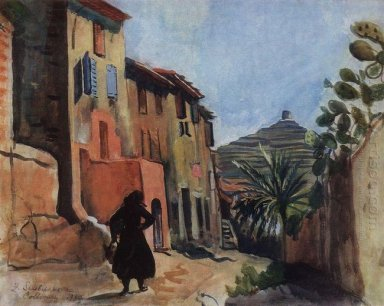 Collioure Street With The Palm 1930