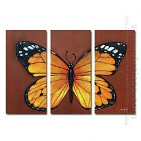 Hand-painted Animal Oil Painting - Set of 3