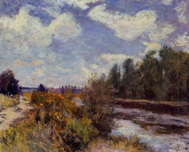 the seine at bougival 1876
