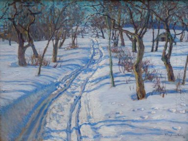 Road In A Winter Garden 1930