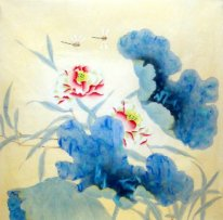 Dragonfly-Lotus - pintura china