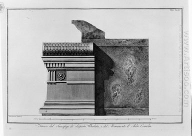 Side Of The Sarcophagus Of Scipio Barbato And The Monument Of Co