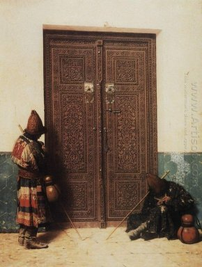 At The Door Of A Mosque 1873